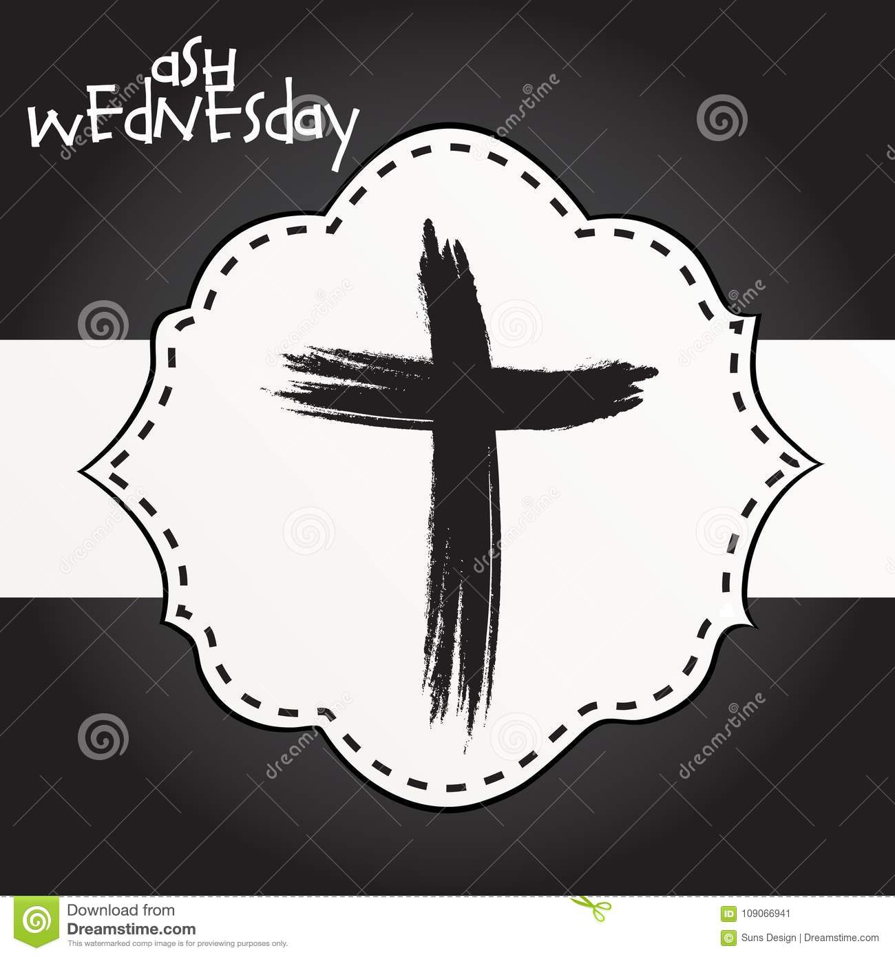 Ash wednesday stock illustration illustration of background ash wednesday background symbol buycottarizona Image collections