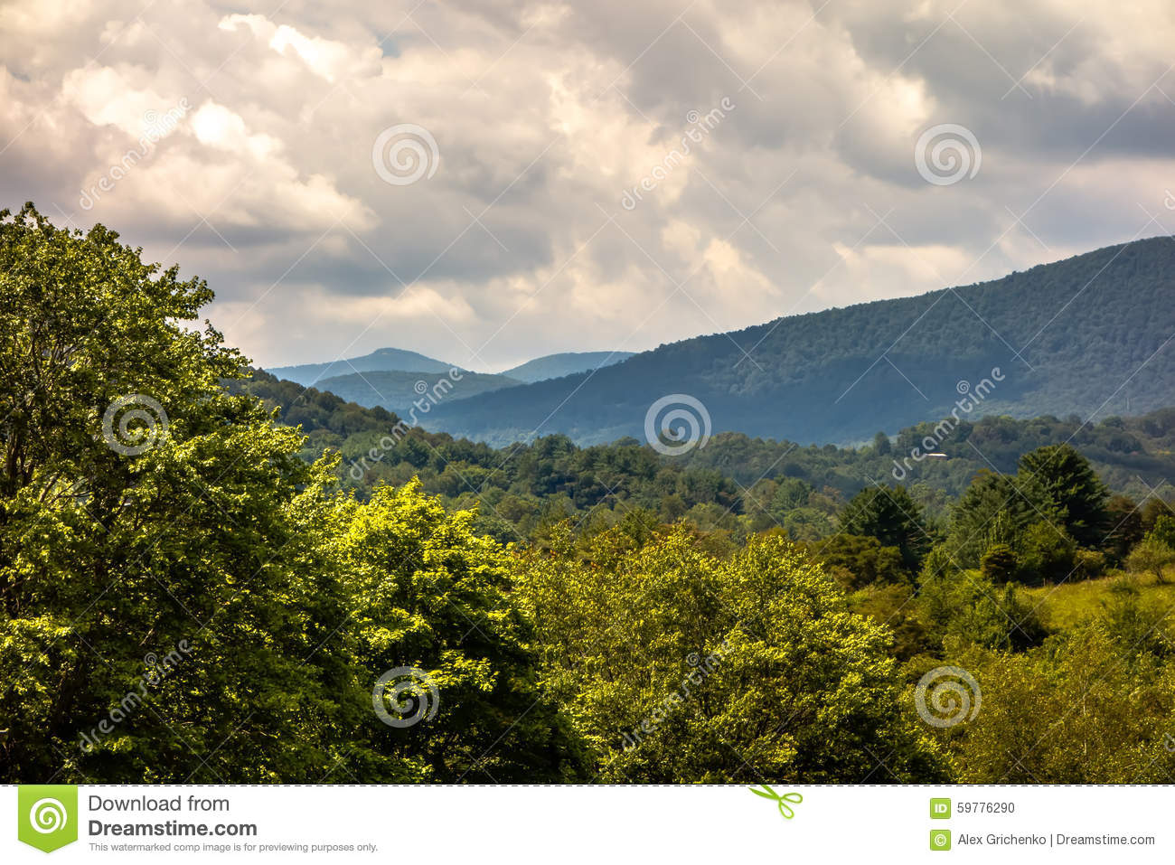 Ashe County mountains North Carolina Seen From the Blue Ridge