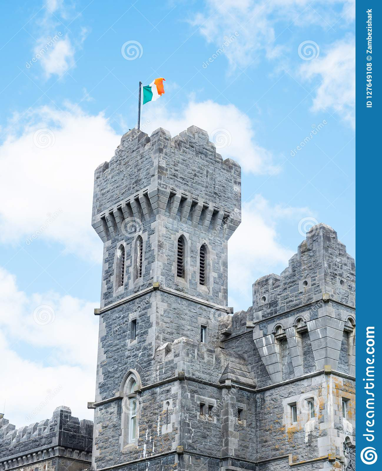 Ashford Castle Tower In Ireland Editorial Stock Photo Image Of