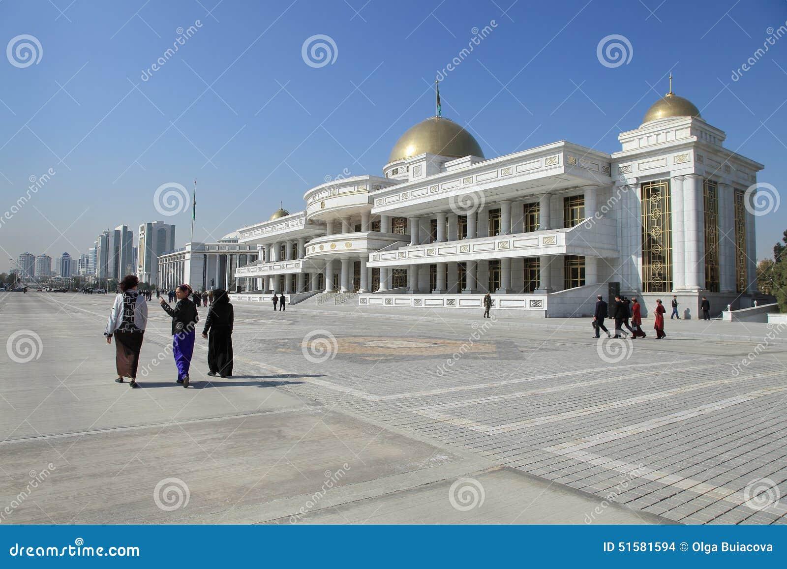 Ashgabad, Turkmenistan - October, 10 2014: Central square of Ash