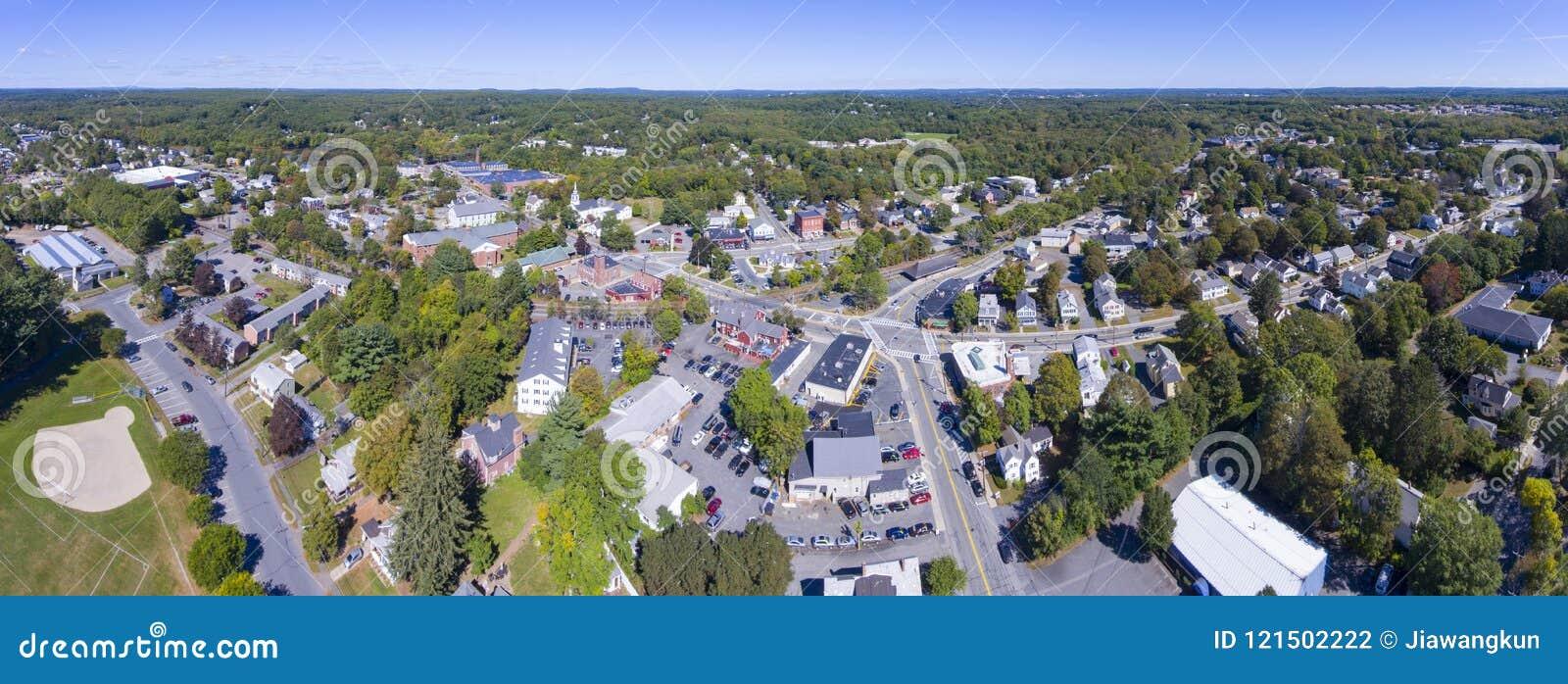 Ashland grodzkiego centrum widok z lotu ptaka, MA, usa