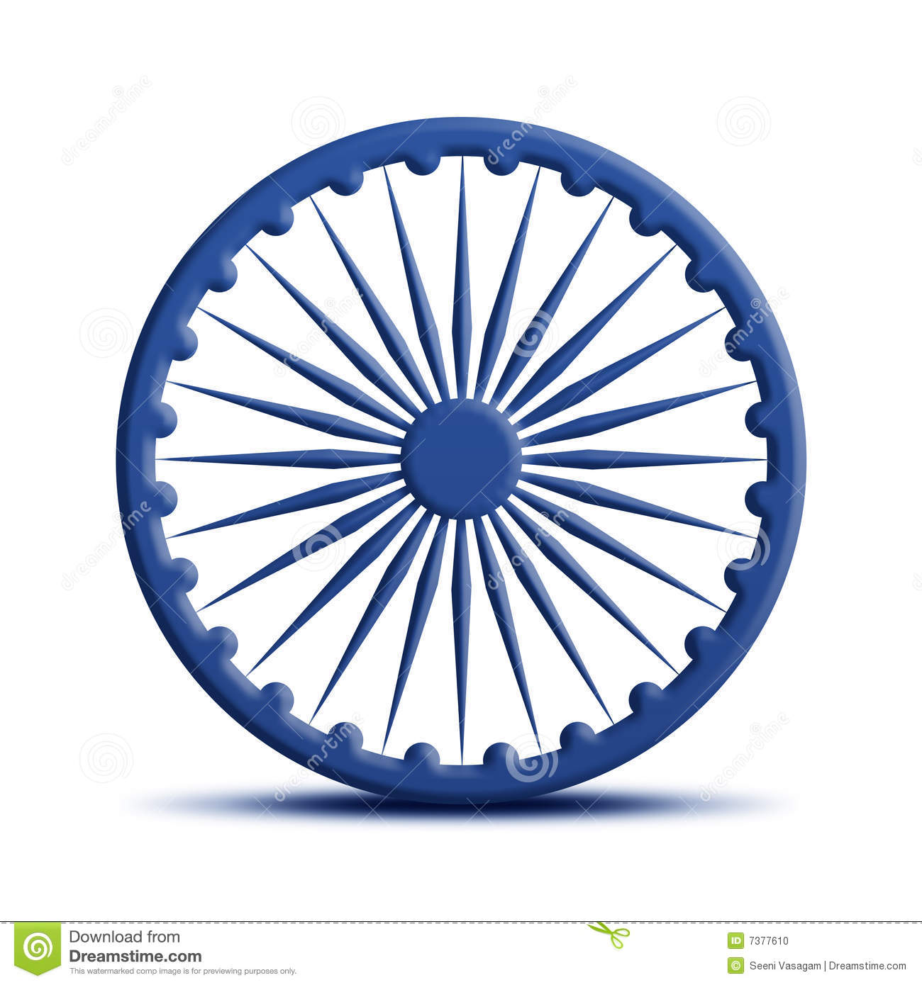 Ashoka Chakra Stock Illustration Illustration Of Color 7377610