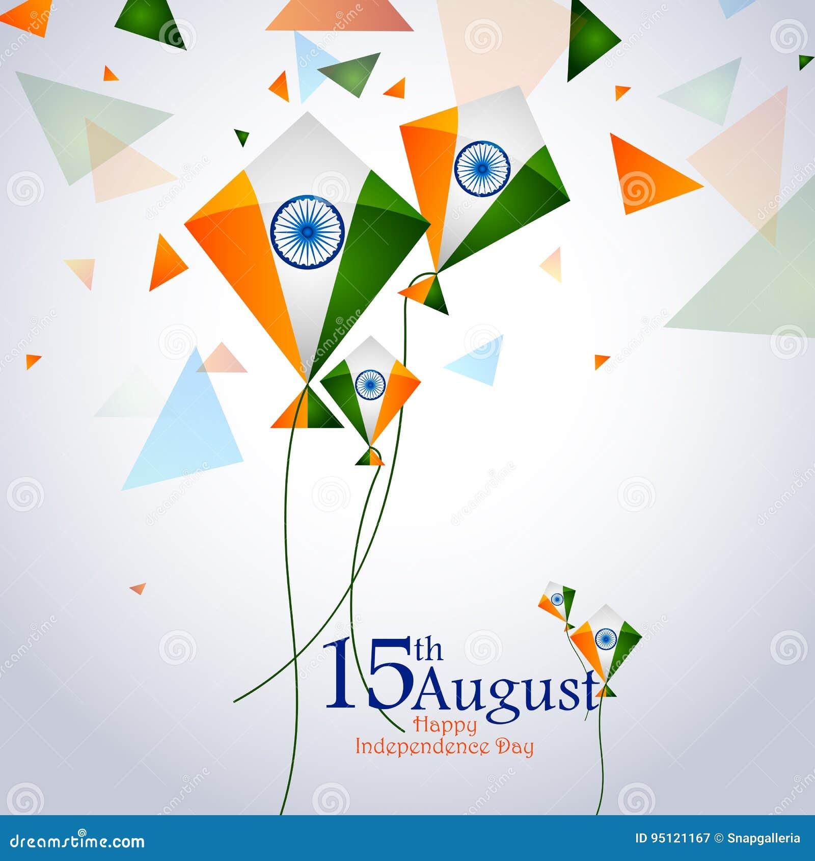 Ashoka Chakra On Happy Independence Day Of India Background Stock