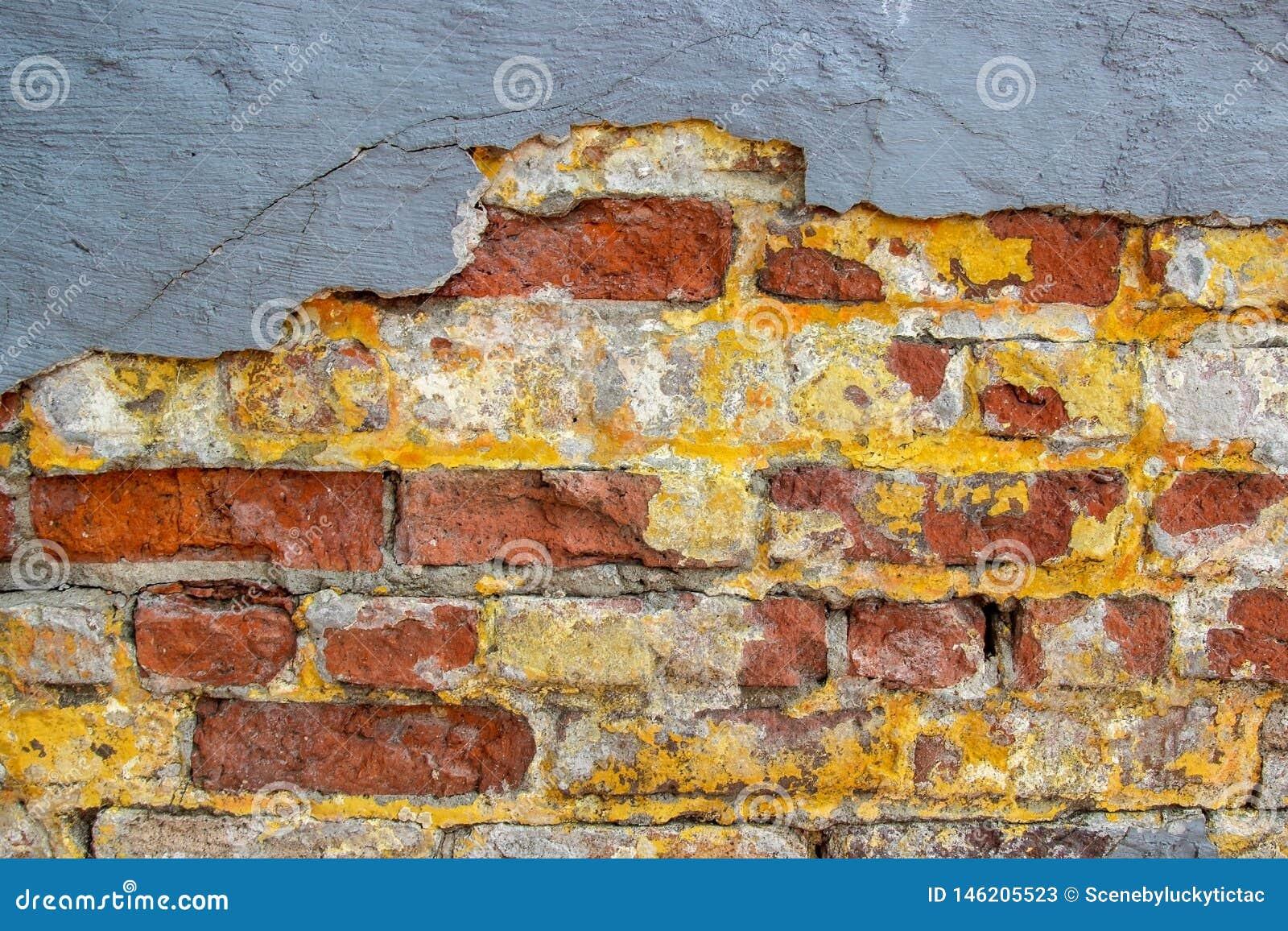 Ashtabula Ohio Red and Yellow Brick Wall