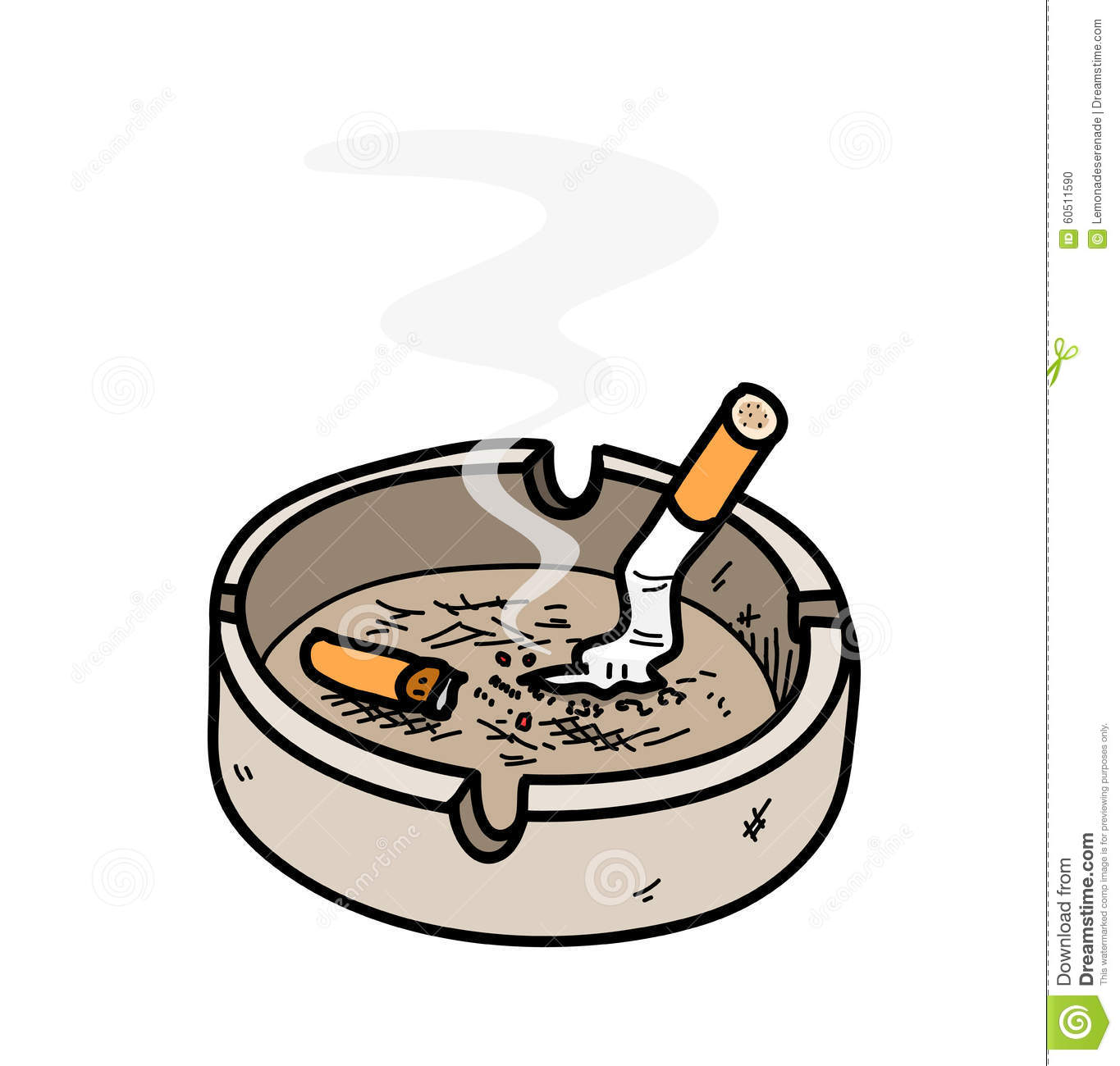 Decoration App Ashtray Stock Vector Image 60511590