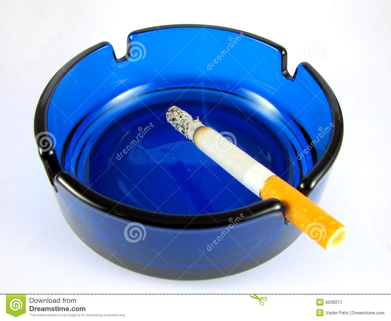 Ashtray With Lit Cigarette Royalty Free Stock Photography - Image ...