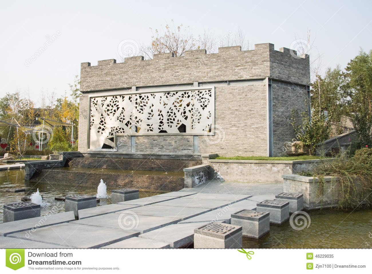 In asia beijing china expo garden antique buildings for Terraces opening times
