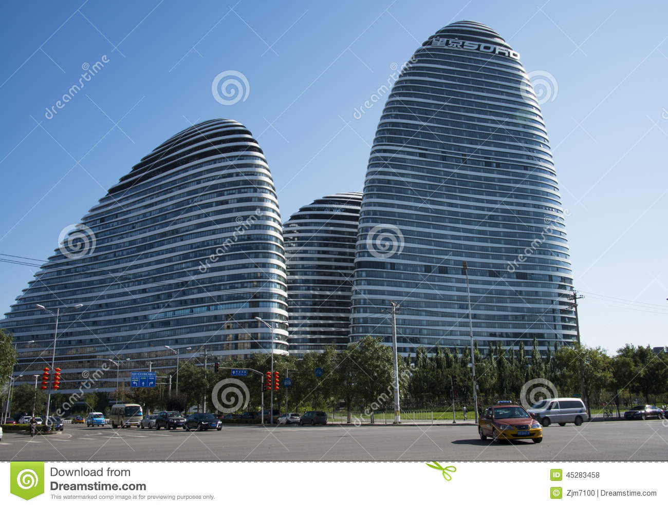 famous architecture in the world.  The Wangjing SOHO By The World Famous Architect Zaha Hadid Zaha Hadid As  Chief Designer Consists Of 3 Buildings Set Office And Commercial Development  Intended Famous Architecture In The World