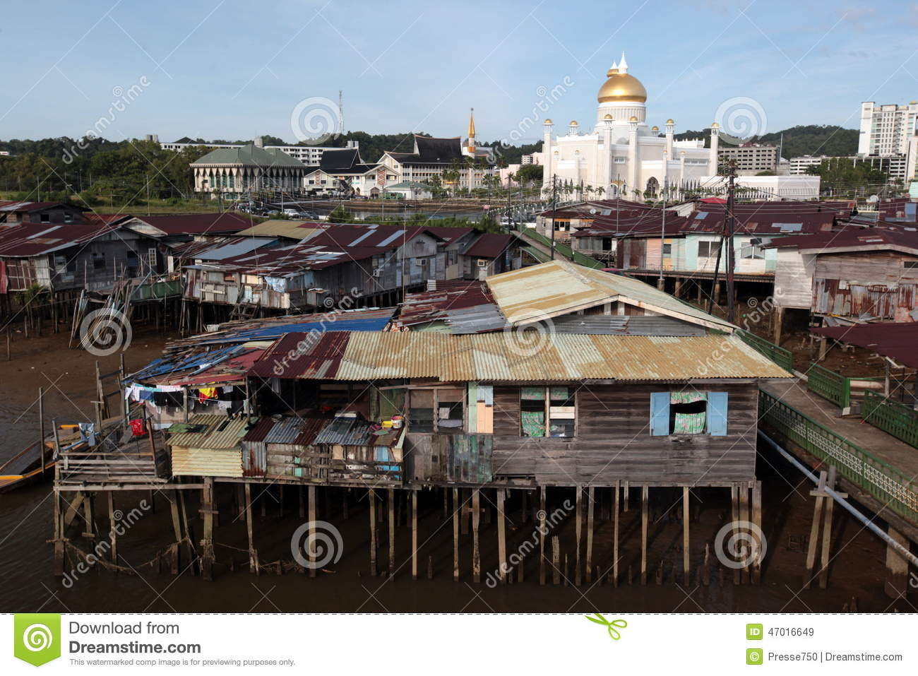 Asia brunei darussalam editorial stock image image of for Village town
