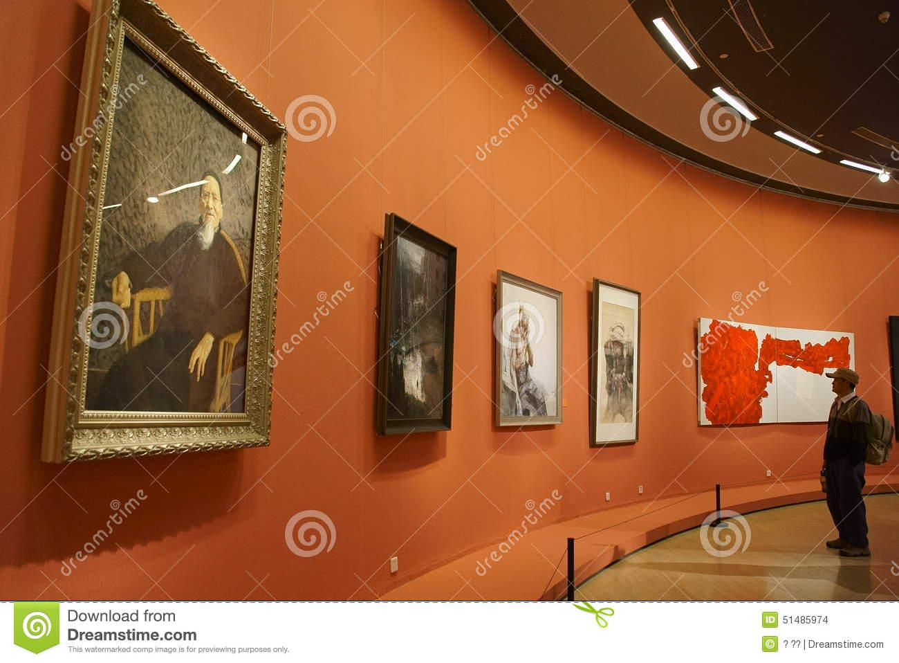 In asia china beijing art museum the exhibition hall Art gallery interior design