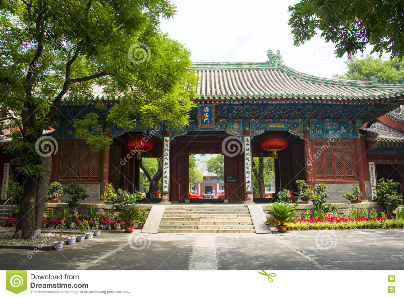 Awesome Asia China, Beijing, Dongyue Temple, Landscape Architecture, Palace Hall, Design