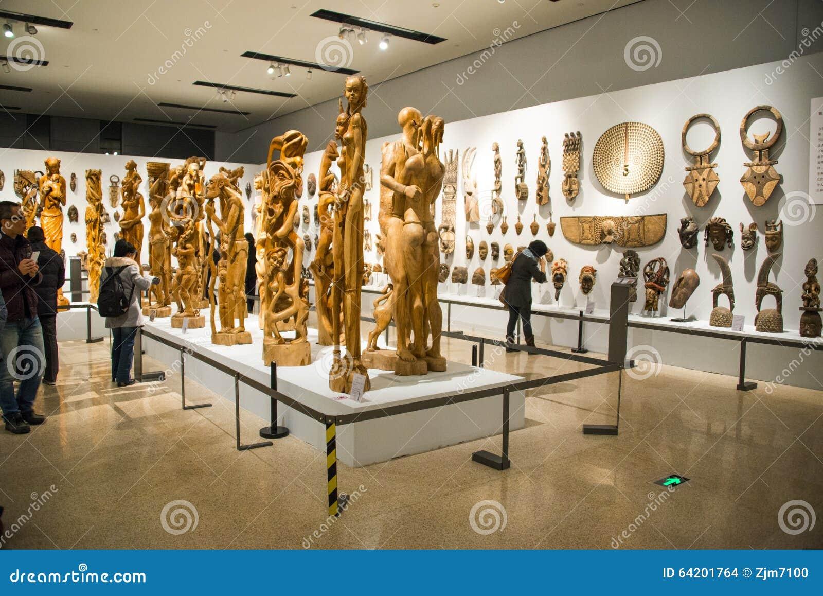 Asia China, Pekín, Museo Nacional, sala de exposiciones interior