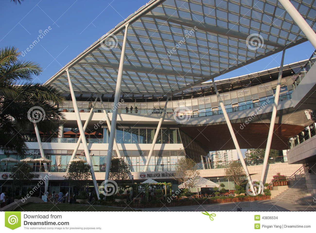 Asia china shenzhen modern steel structure building in sea world square editorial stock image - Steel structure house plans a world in motion ...