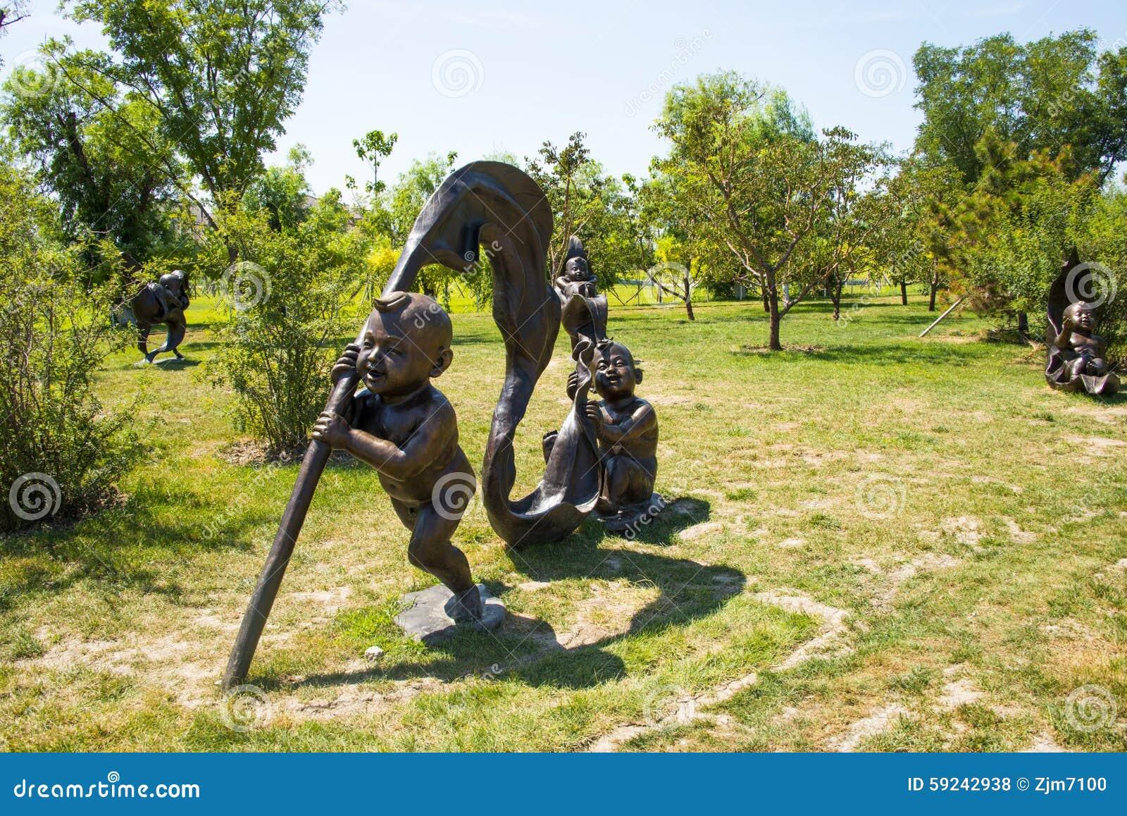 Download Asia China, Wuqing, Tianjin, Expo Verde, Escultura Del Paisaje, El Jugar De Los Niños Foto de archivo - Imagen de niños, tianjin: 59242938
