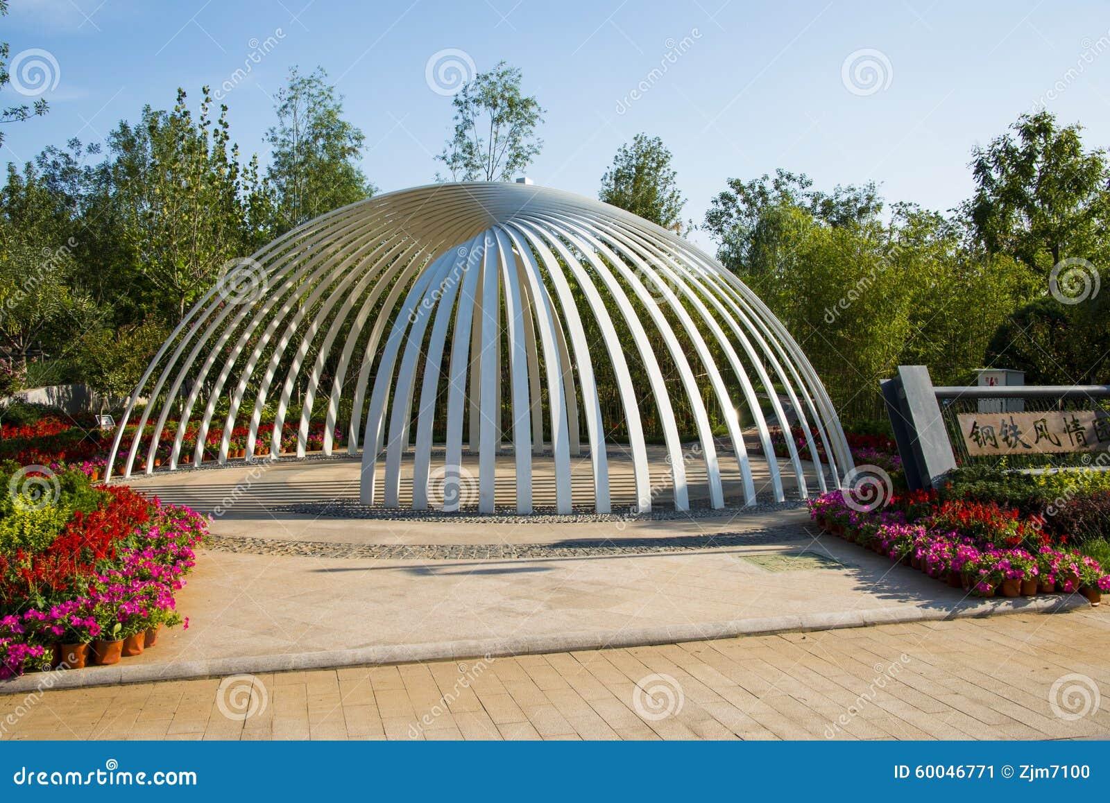 asia china wuqing tianjin green expo landscape architecture semi circle pavilion editorial