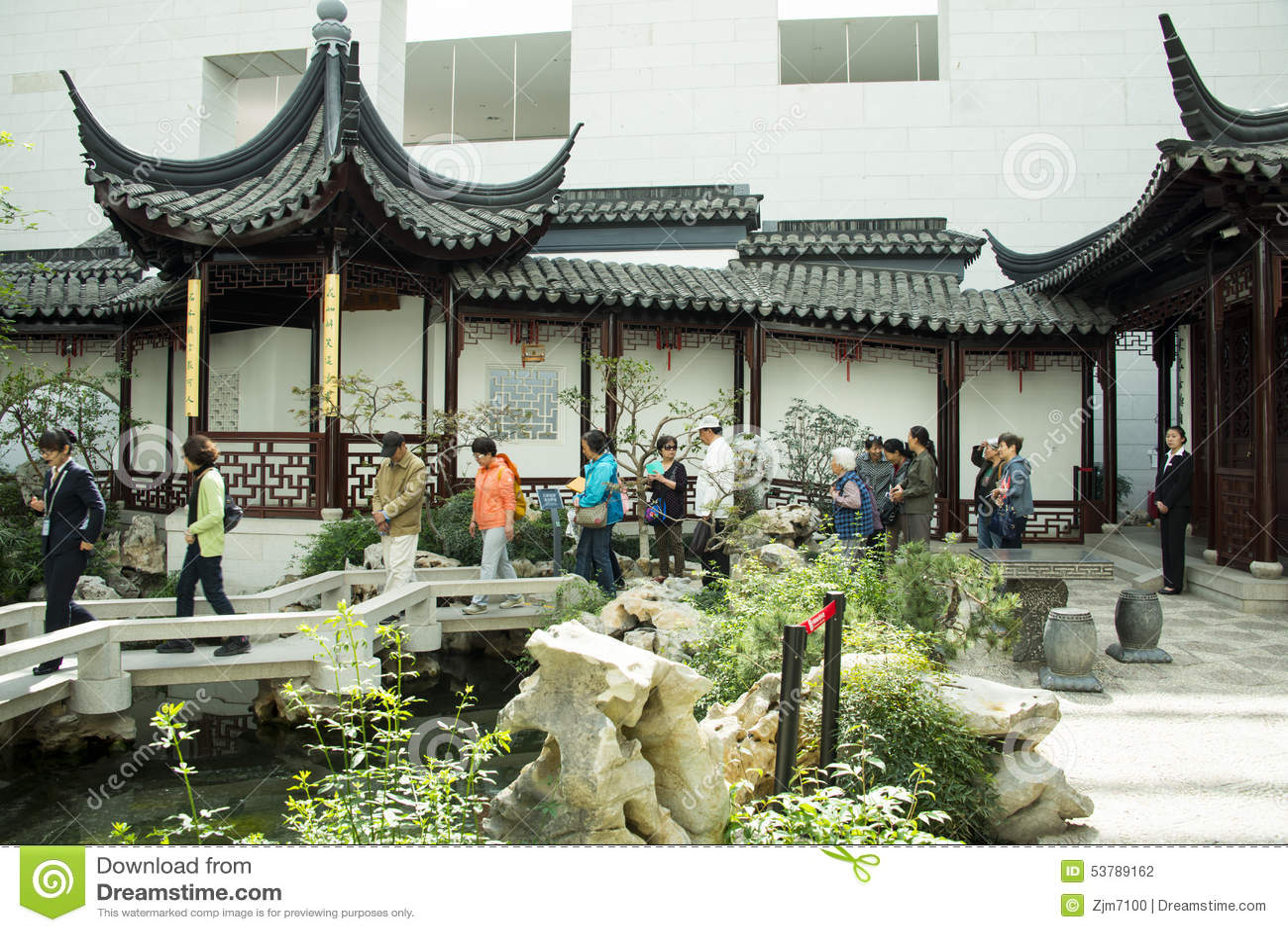 Asia Chinese Beijing China Garden Museum Indoor Courtyard Suzhou Jiangnan Editorial Photography Image Of Landscape Asia 53789162