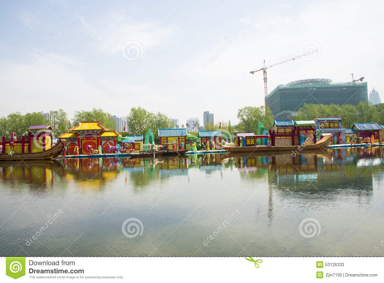 asia-chinese-beijing-olympic-park-lake-landscape-china-clear-modern ...