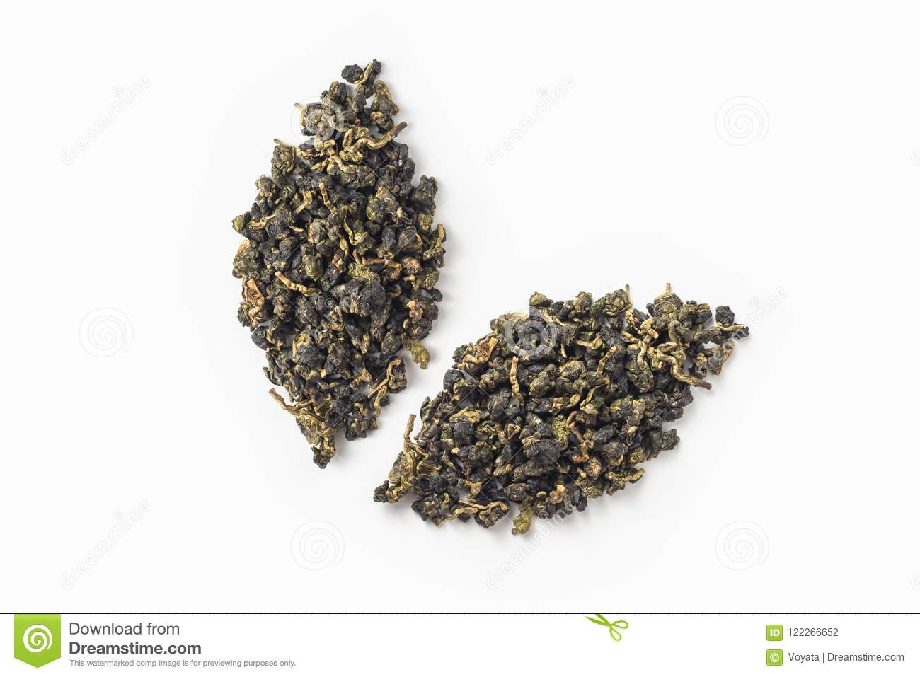 Fresh taiwan oolong tea dry bud layout like leaves icon