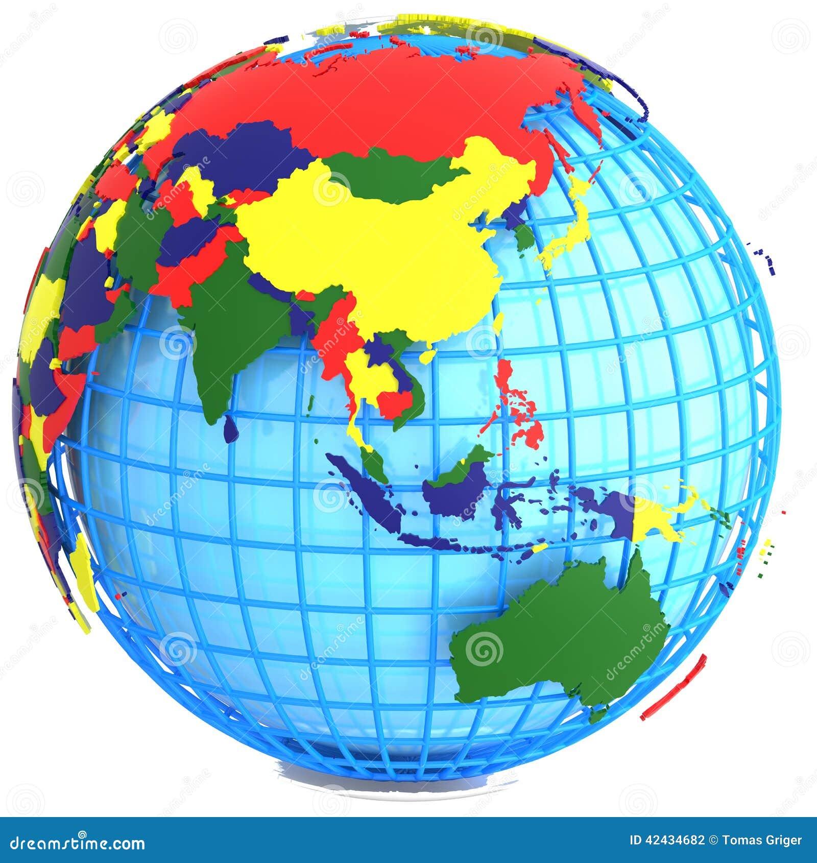 Asia en la tierra
