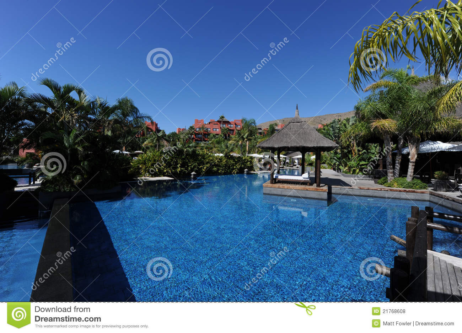 Asia gardens hotel benidorm spain stock photo image - Hotel benidorm asia garden ...