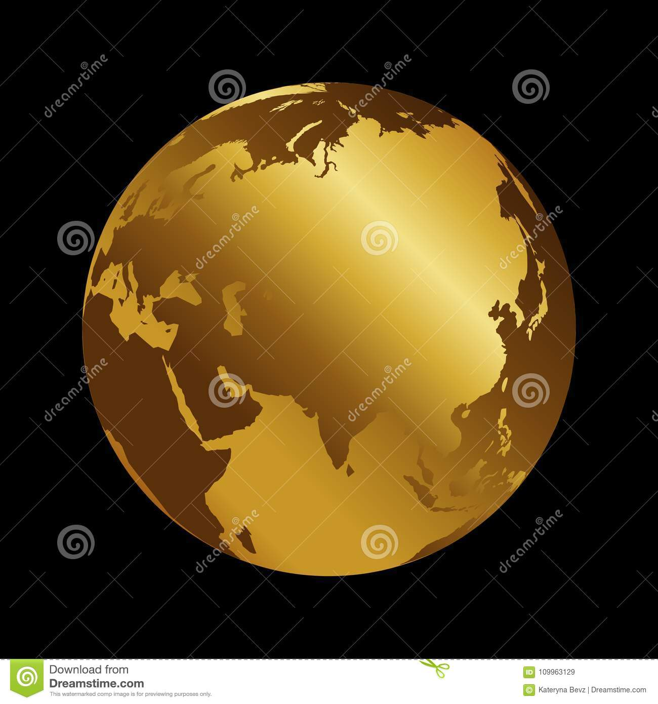 Asia golden 3d metal planet backdrop view russia india and china download asia golden 3d metal planet backdrop view russia india and china world map gumiabroncs Image collections