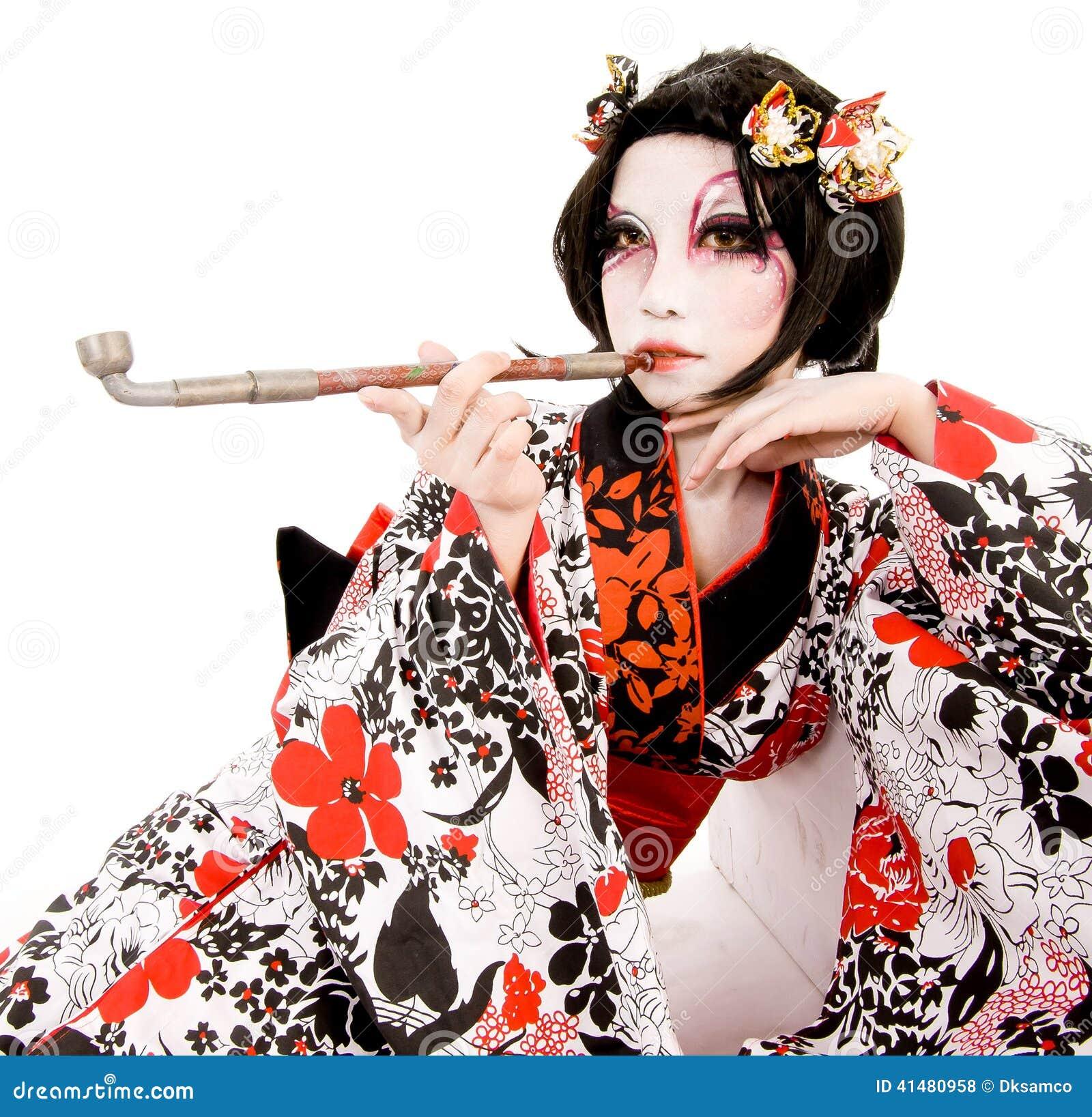 asia japanese cosplay kabuki girl stock photo image of japanese