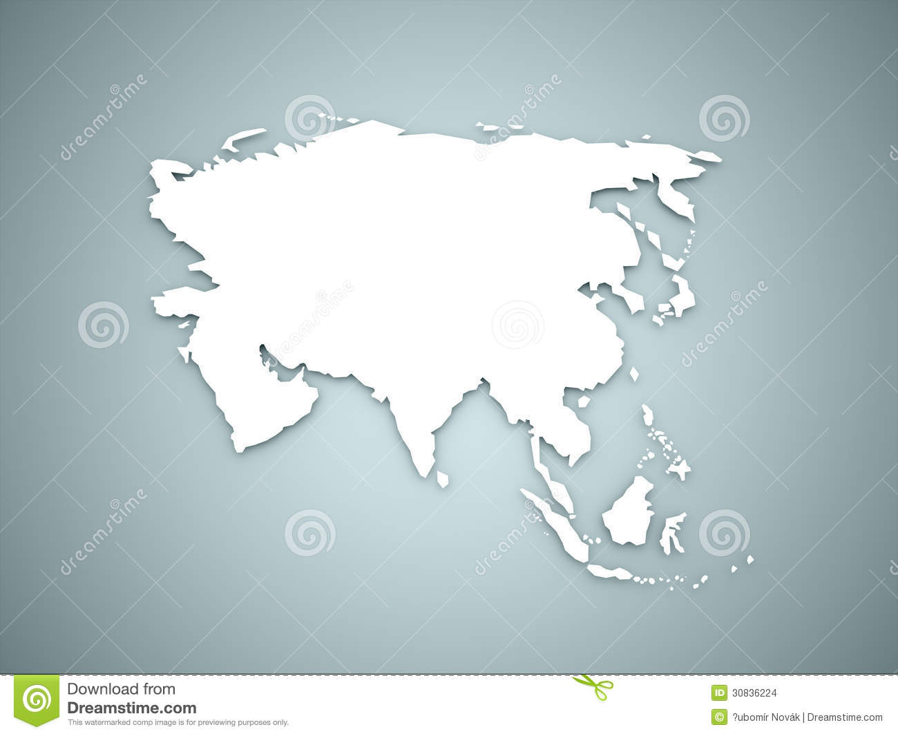 Asia Map Continent Concept Stock Images Image 30836224