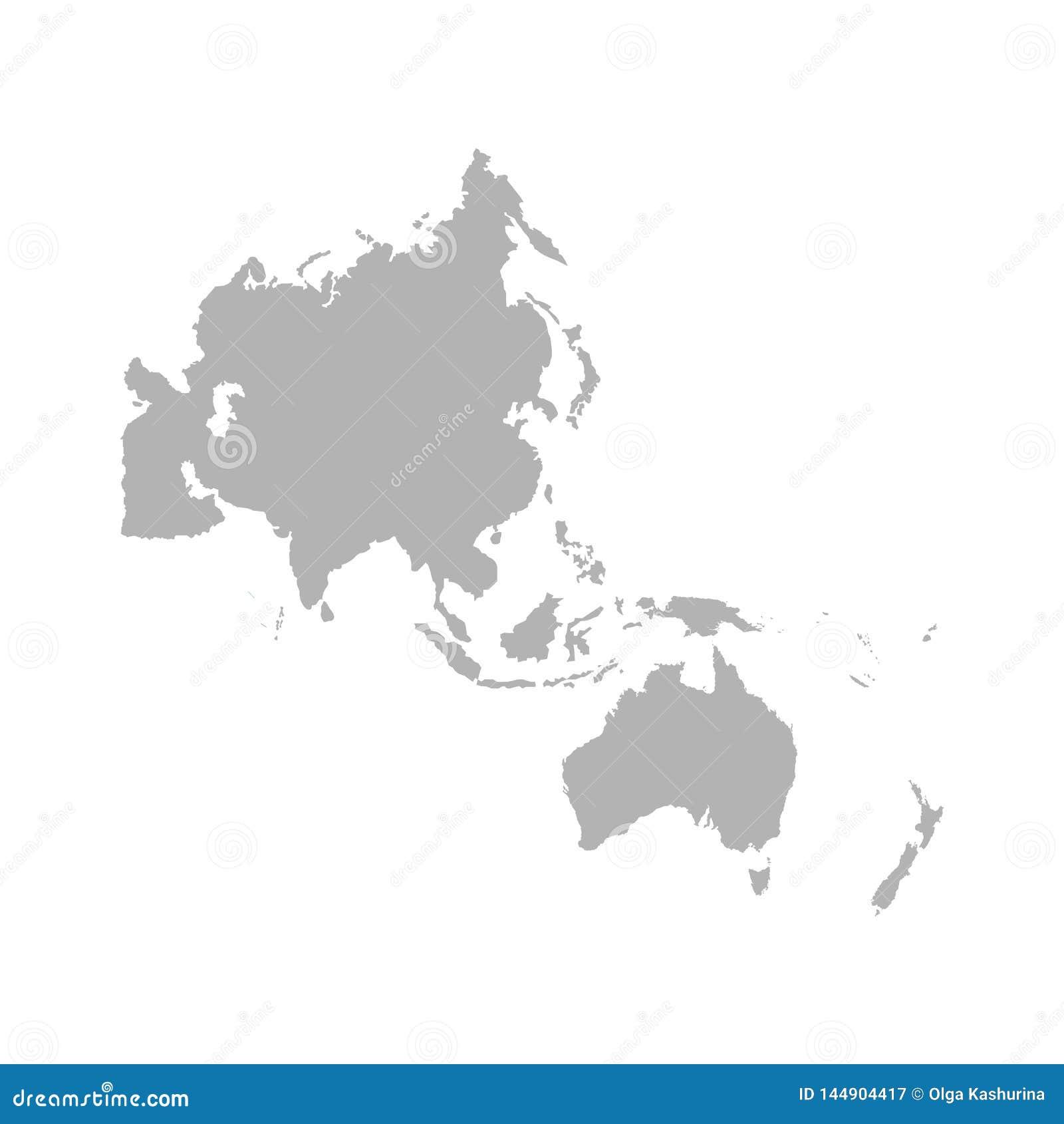 Карта Asia Pacific - Вектор