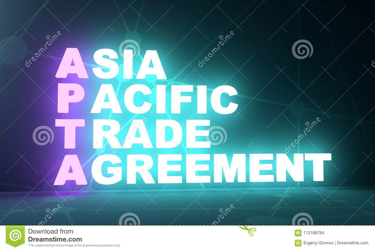 Asia Pacific Trade Agreement Acronym Stock Illustration