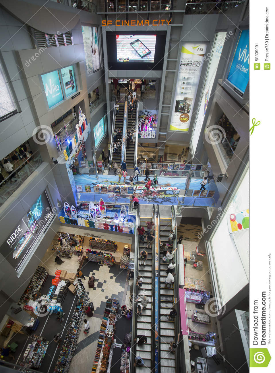 ASIA THAILAND BANGKOK SIAM SQUARE PARAGON SHOPPING Editorial