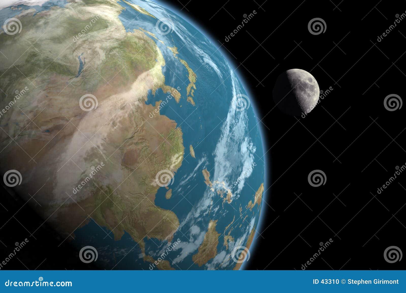 Download Asia Y Luna, Ningunas Estrellas Stock de ilustración - Ilustración de luna, futuro: 43310