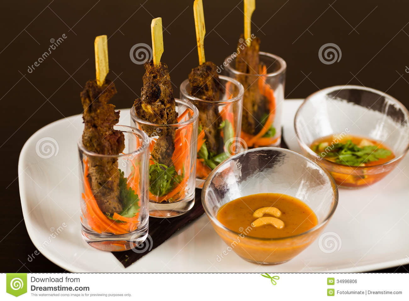 Asian appetizer stock photo image of dipping dinner for Asian cuisine appetizers