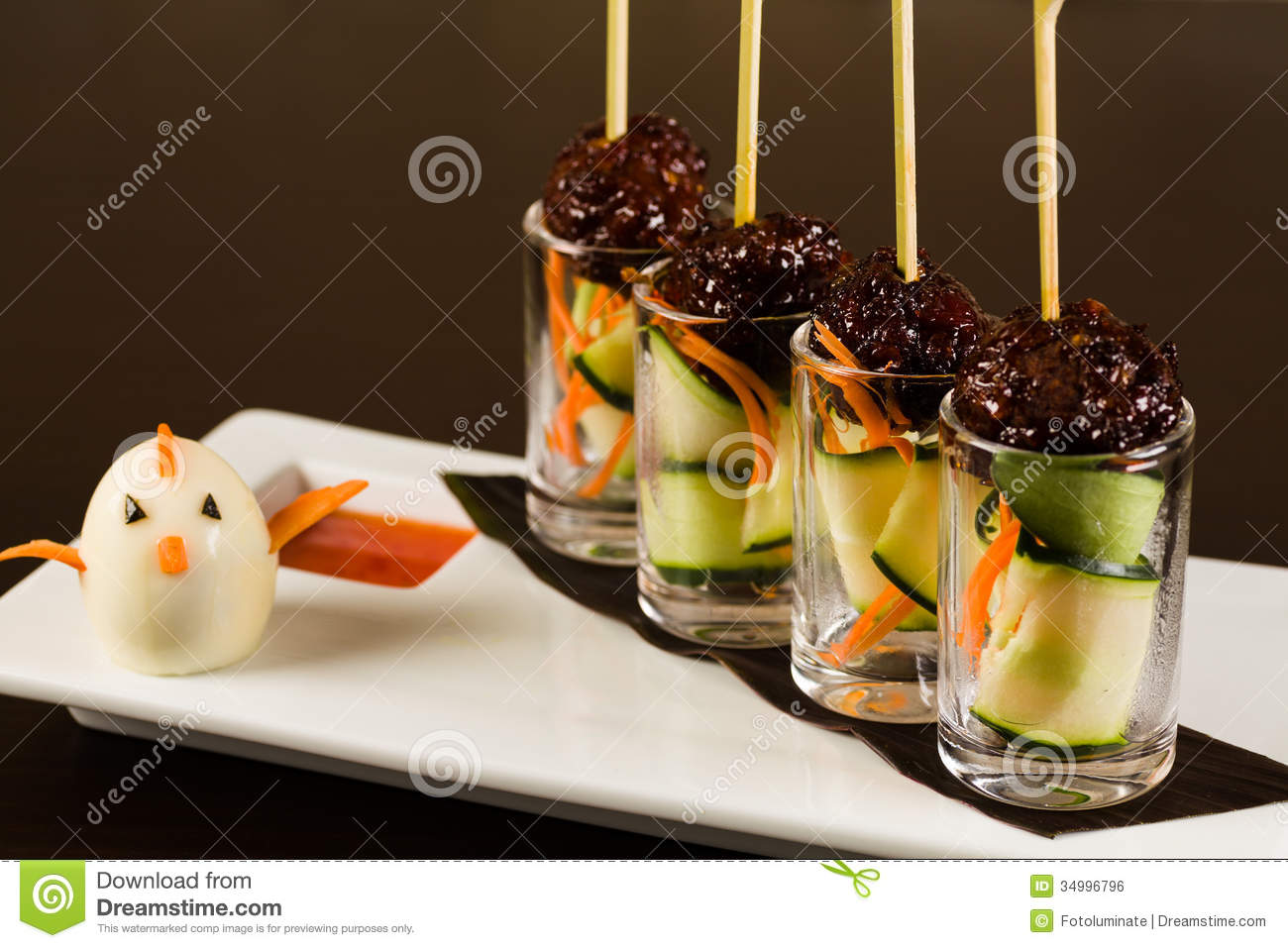Asian appetizer stock photo image of nutrition beverage for Canape aperitif