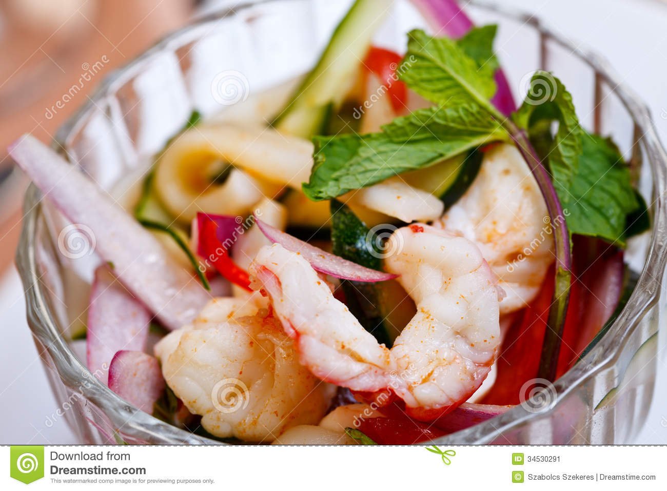 Asian appetizer yam talay stock image image 34530291 for Asian cuisine appetizers