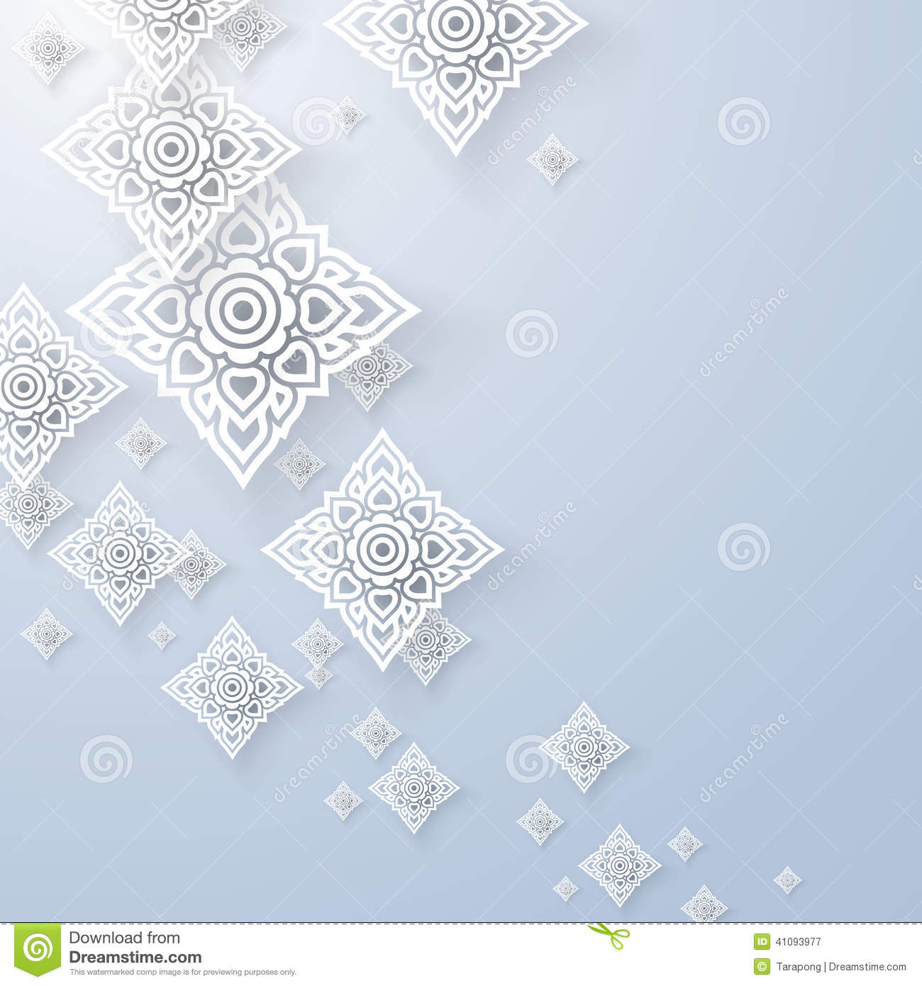 Asian art background thai art pattern vector stock Blueprint designer free