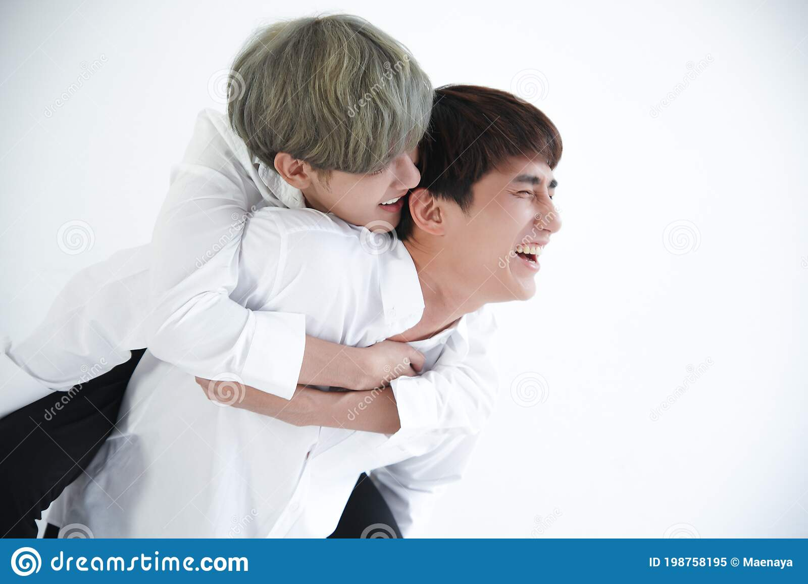 Gay white couple asian Controversial hand