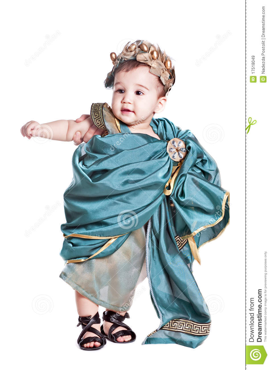 Asian baby boy in a amoretto fancy dress royalty free stock images
