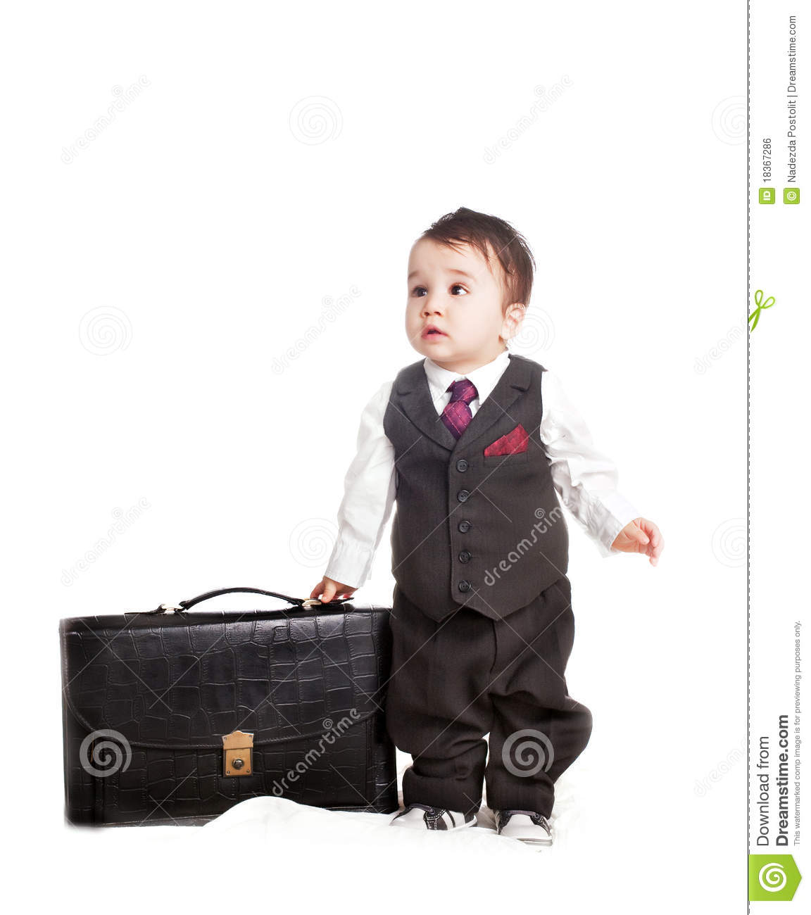Asian baby boy in as a businessman royalty free stock image image