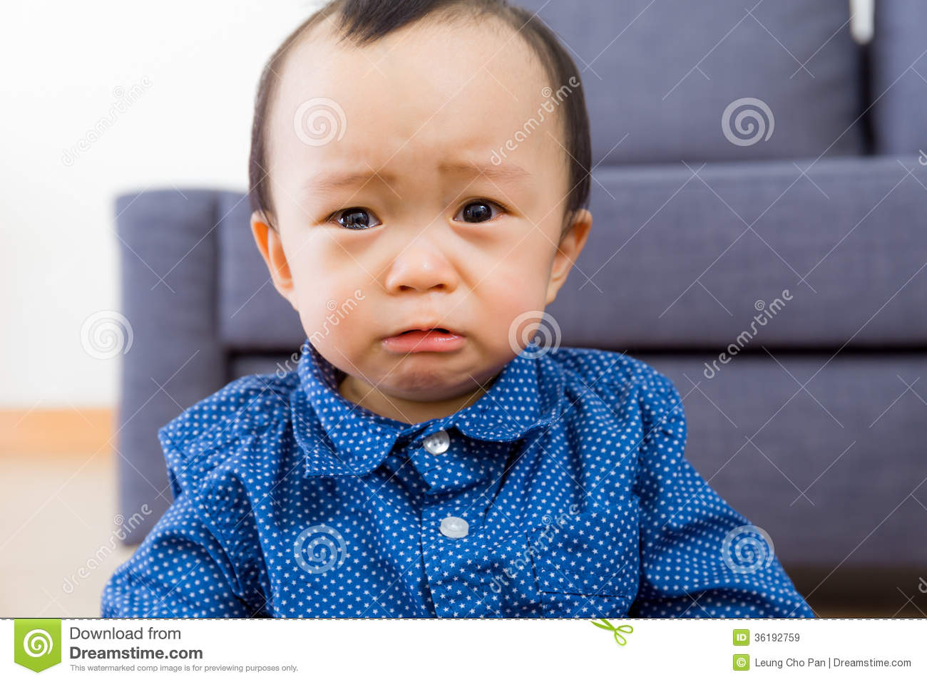 Asian baby boy feel sorrow royalty free stock images image 36192759