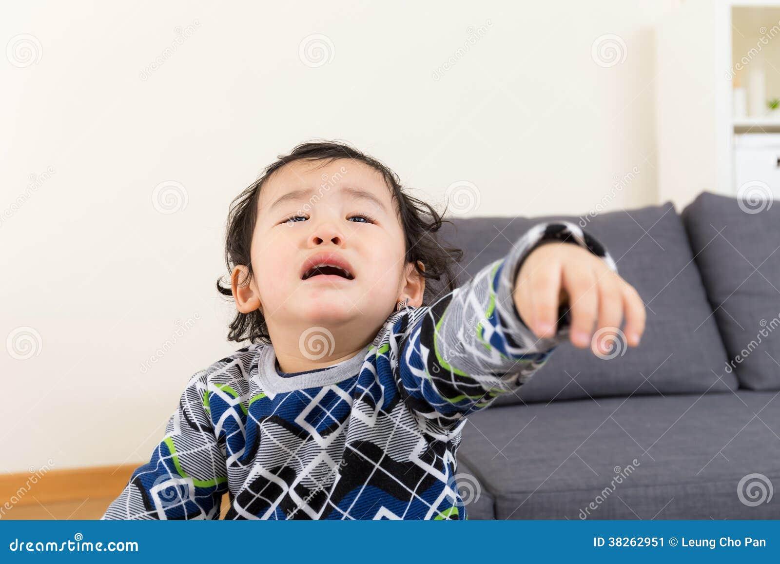 Asian Baby Boy Feeling Upset Stock Image - Image: 38262951