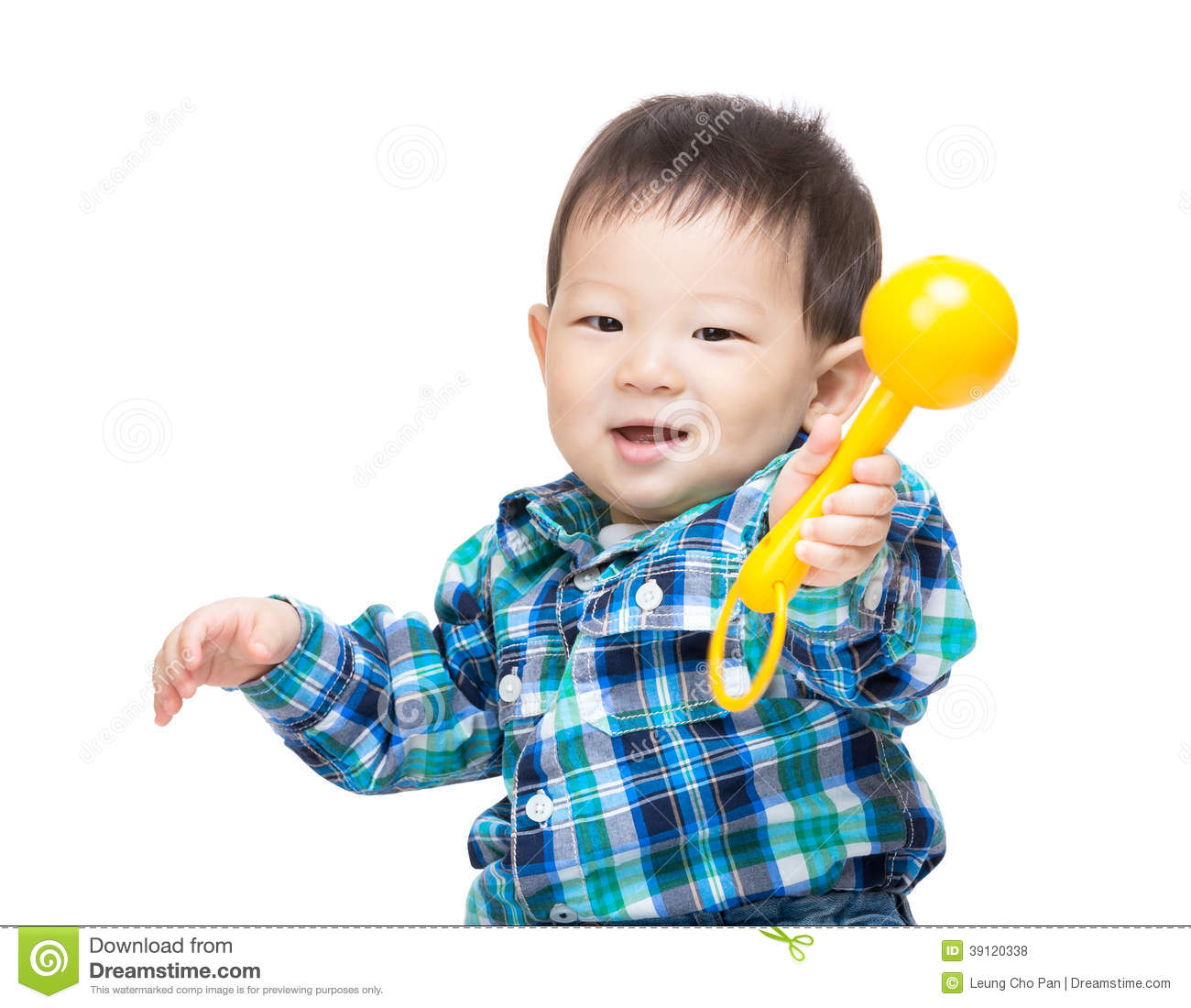 Asian baby boy play toy