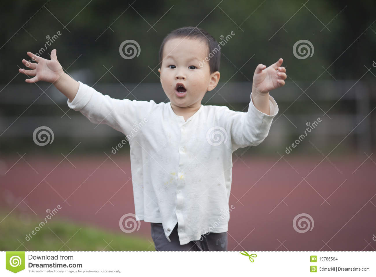 Asian baby boy running in the school stock images image 19786564