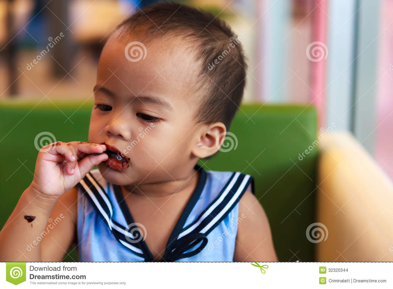Asian Baby Eating 110