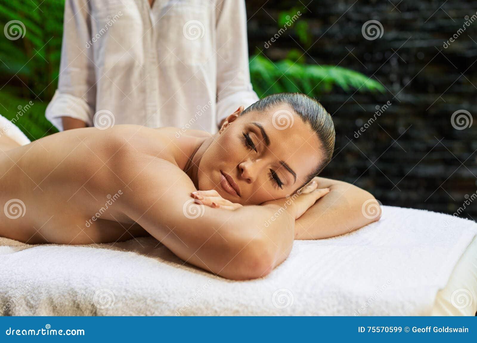 Asian Back Massage Theraphy Spa Hot Stone Stock Image