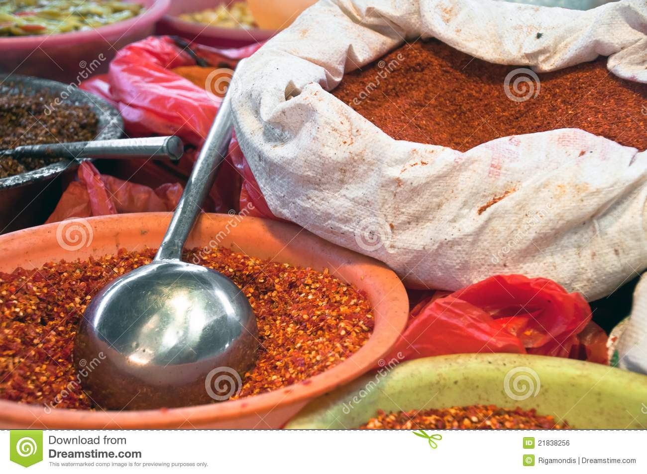 Asian bag of spices royalty free stock image image 21838256 for 7 spices asian cuisine