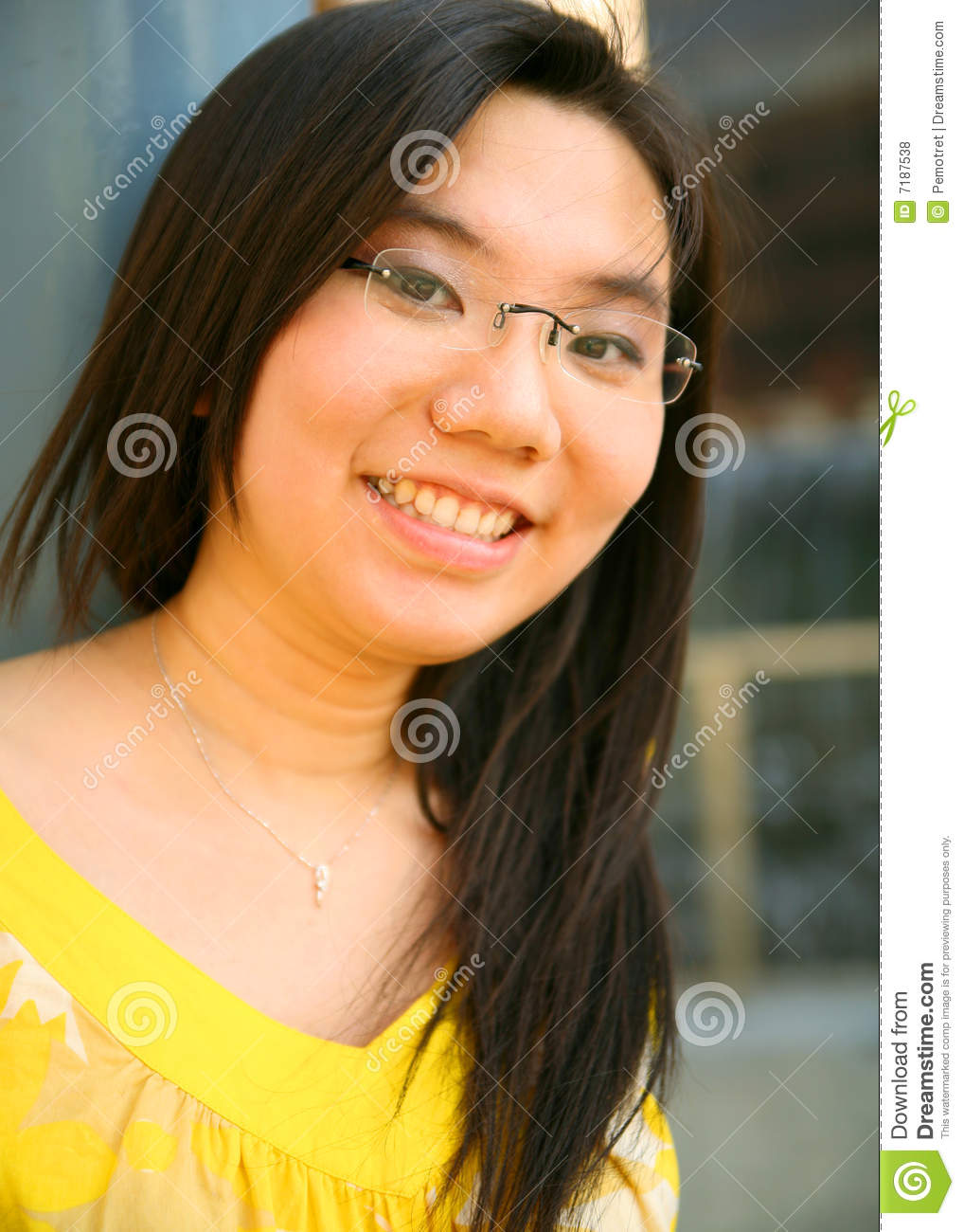 Asian beautiful girl happy portrait