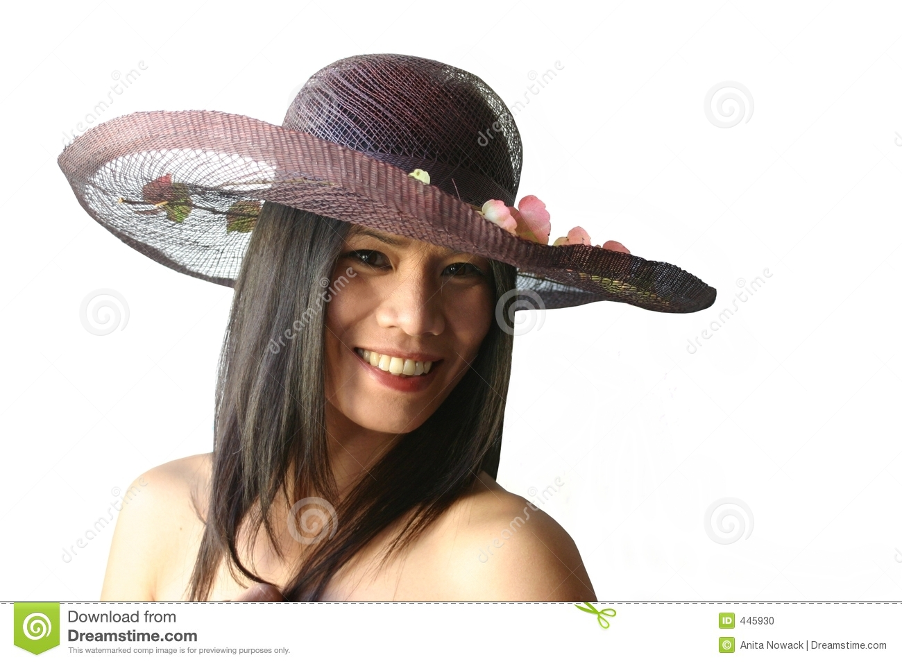 Asian beauty with hat
