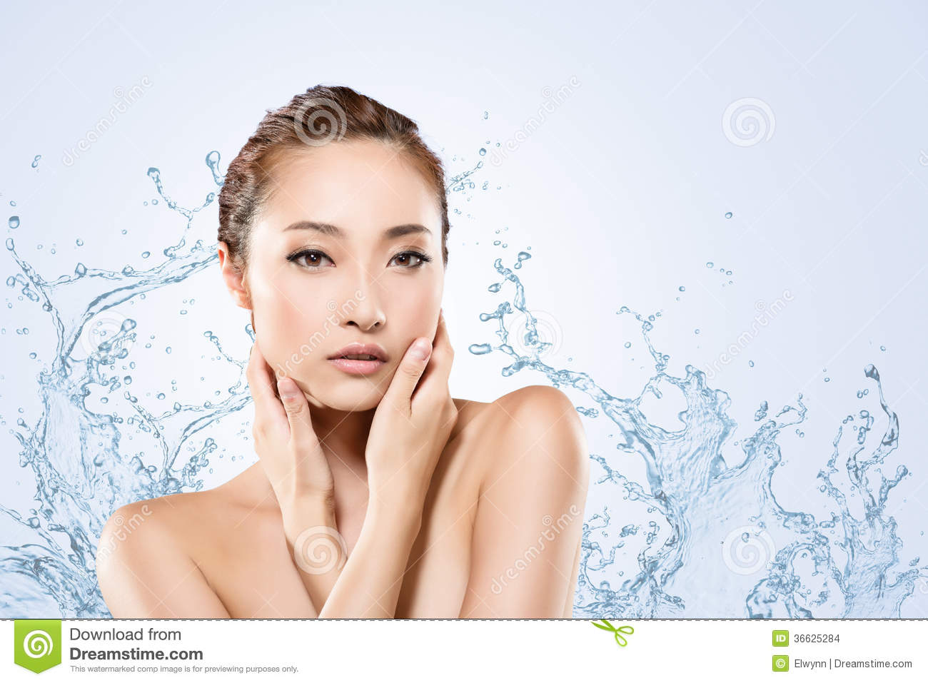 how to clean face without water