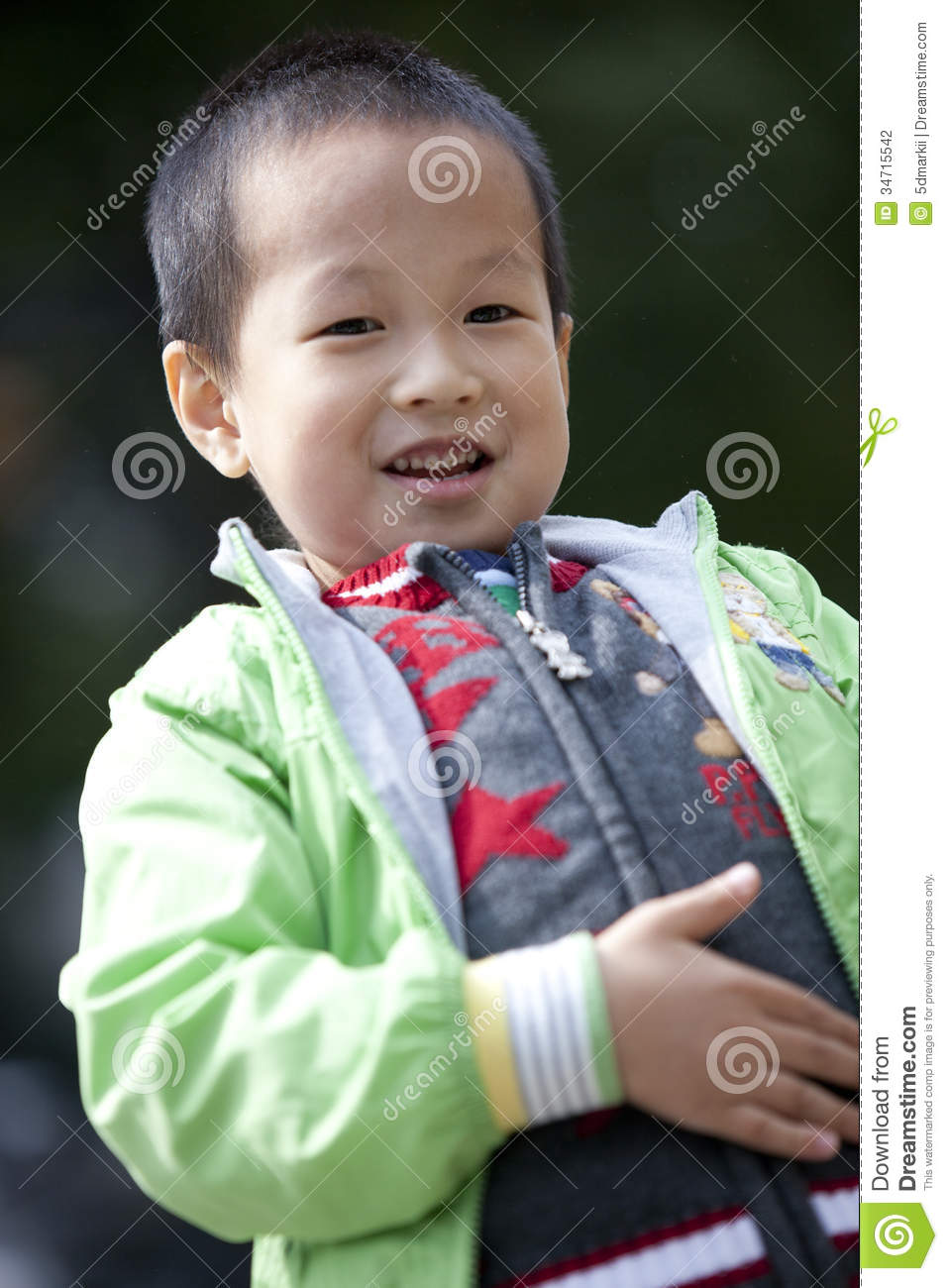 Asian Boy Touch Stomach Show Full Stock Photography ...