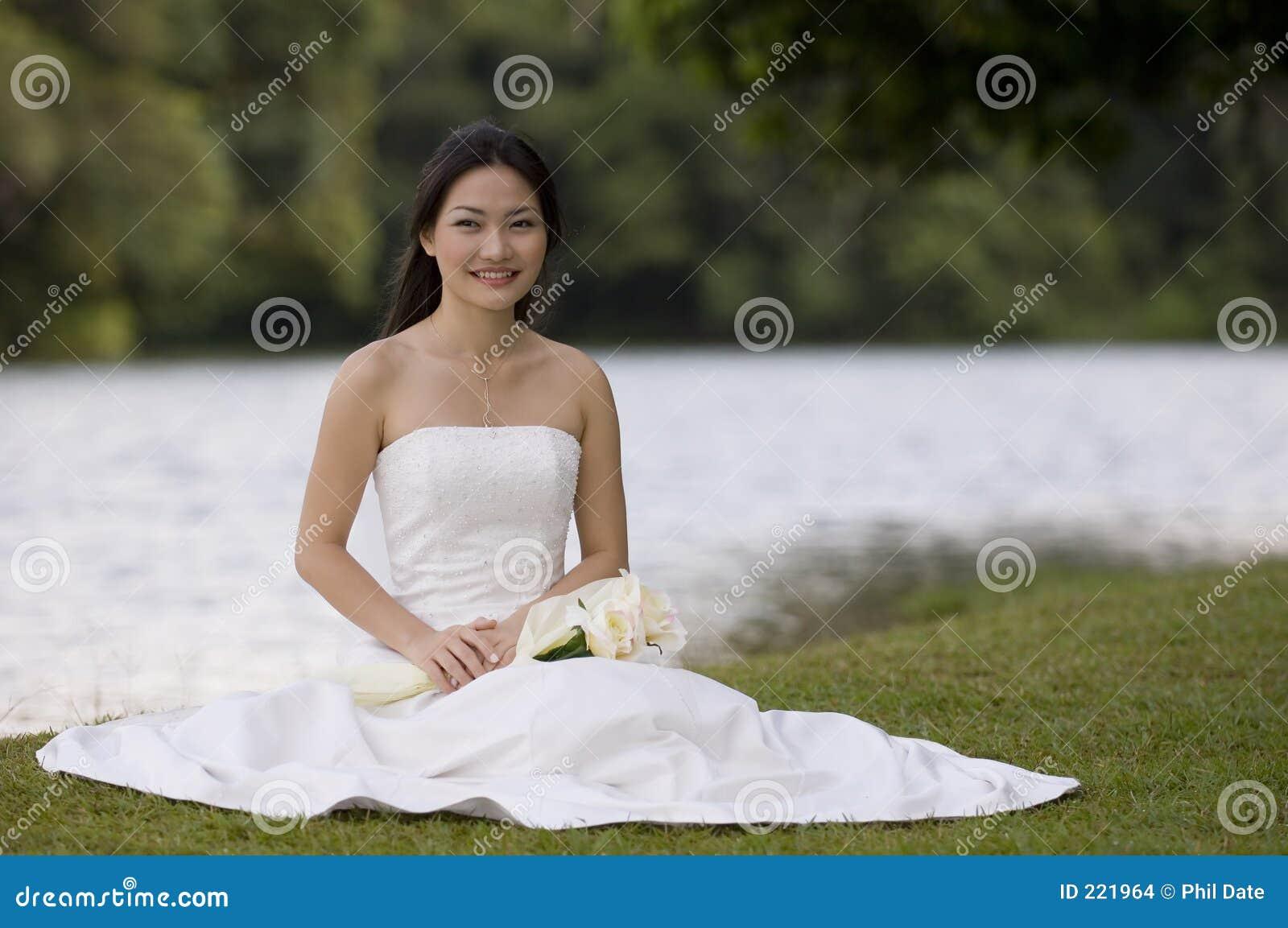 Asian Bride Sits 78